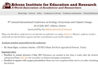 5th Annual International Conference on Ecology, Ecosystems and Climate Change