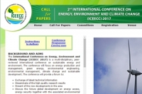The International Conference on Energy, Environment and Climate Change