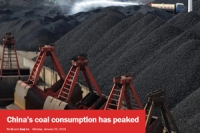 China's coal consumption has peaked