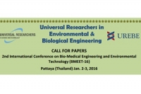 2nd International Conference on Bio-Medical Engineering and Environmental