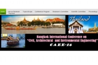"Conference on  ""Civil, Architectural  and Environmental Engineering"" (CAEE-16)"