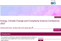 Energy, Climate Change and Complexity Science Conference, 2017