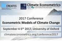 Econometric Models of Climate Change: Conference 2017