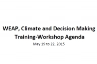 Climate and Decision Making Training-Workshop Agenda