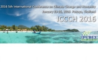 2016 5th International Conference on Climate Change and Humanity (ICCCH 2016)