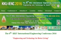 The 6th  KKU International Engineering Conference 2016