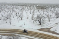 """พายุฤดูหนาวหายากเยือน """"เวสต์แบงก์"""" หิมะตกครั้งแรกในรอบหลายปี"""